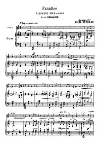 Krakauer - Paradise (Viennese song) - Piano part - First page